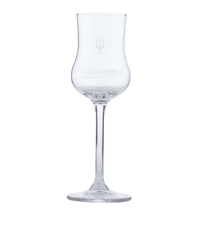 Marzadro: Original Grappakelch mit Gravur - Kelch-Glas für Grappa
