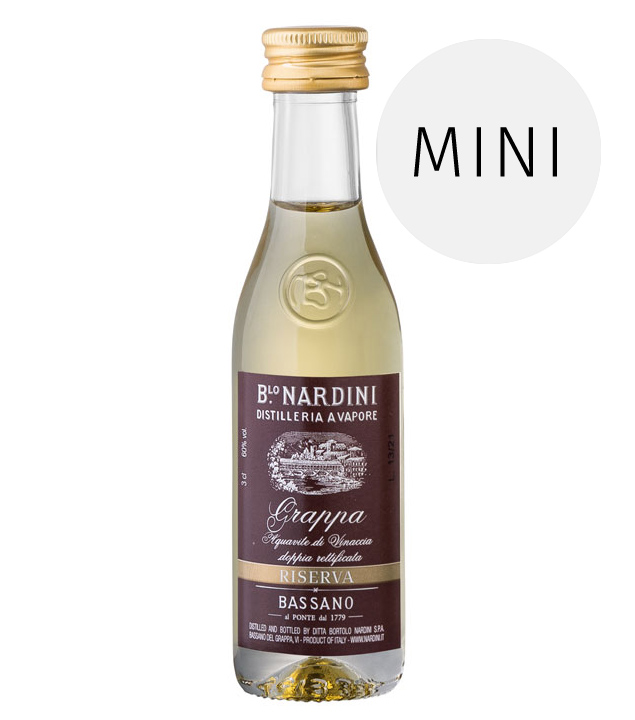 Nardini: Grappa Riserva 60° / 60% Vol. / 0,03 Liter-Flasche