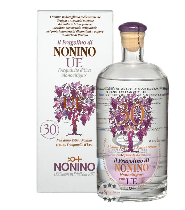 Nonino ÙE Il Fragolino di Nonino Acquavite d'Uva Monovitigno / 38 % Vol. / 0,7 Liter-Flasche in Geschenkkarton
