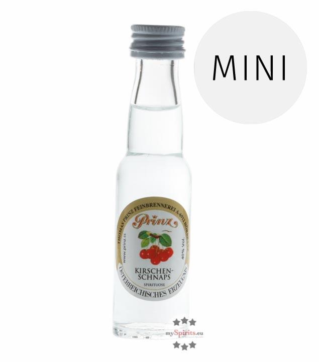 Prinz: Kirschen-Schnaps / 40% Vol. / 0,02 Liter - Flasche