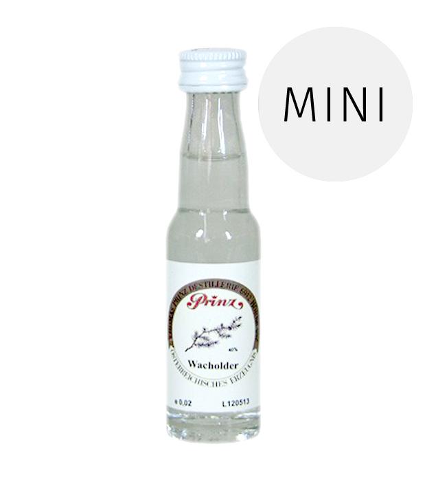 Prinz: Wacholder Schnaps / 40% Vol. / 0,02 Liter - Flasche