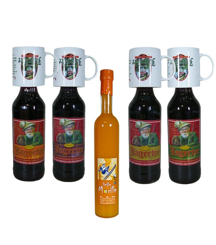 Winter-Kombi-Paket / 4x 1 Liter Jagertee, 1x 0,...