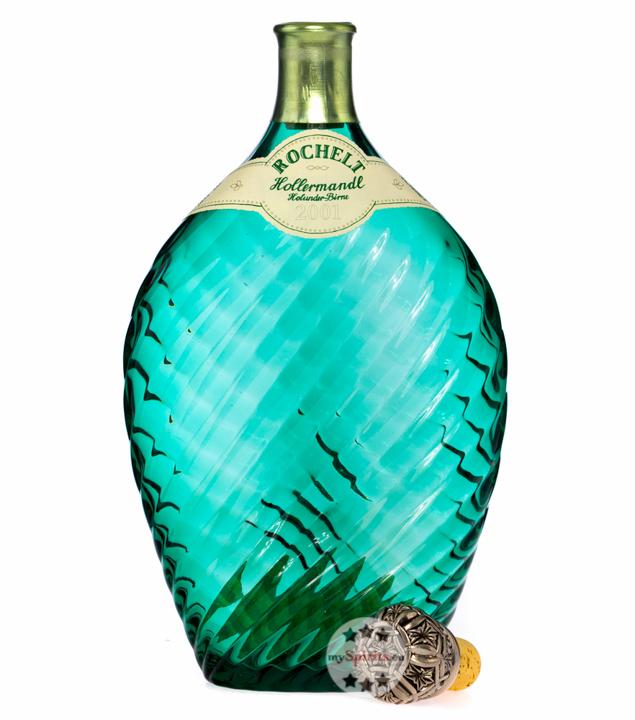 Rochelt Hollermandl - Brandcuvée aus Williamsbirne und Holderbeere / 50 % Vol. 0,7 Liter-Flasche in Holzkiste