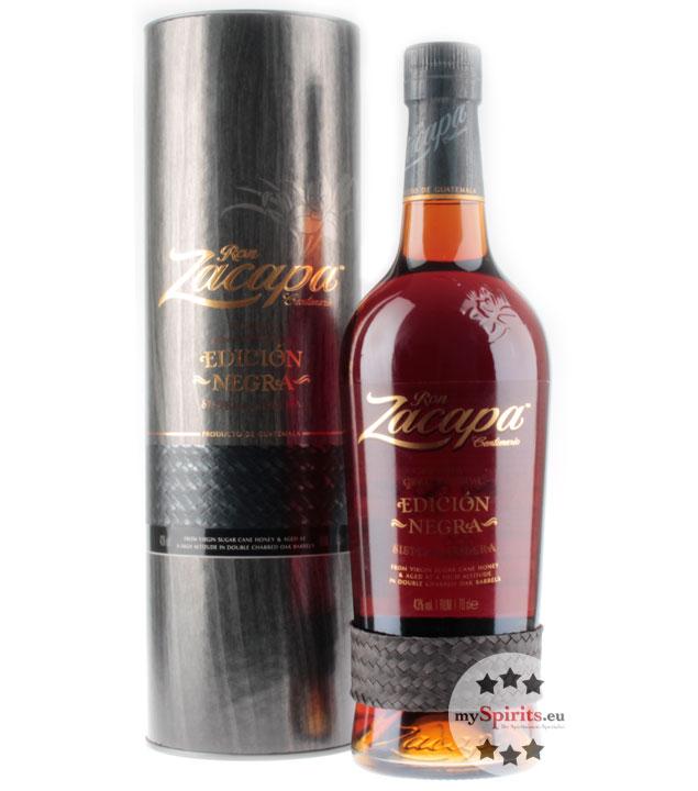 Ron Zacapa Edición Negra Sistema Solera Rum / 43 % Vol. / 0,7 Liter-Flasche in Geschenkdose
