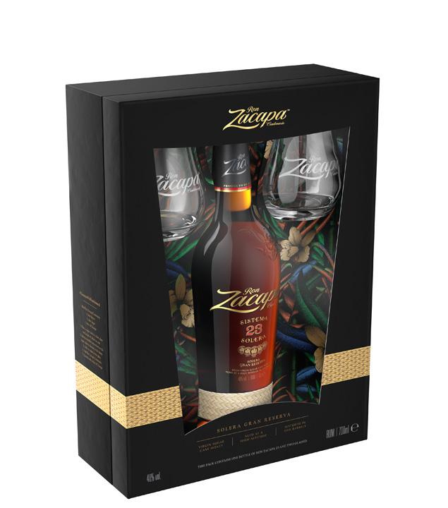 Ron Zacapa 23 Rum – Solera Gran Reserva Geschenkset / 40 % Vol. / 0,7 Liter-Flasche + 2 Nosinggläser
