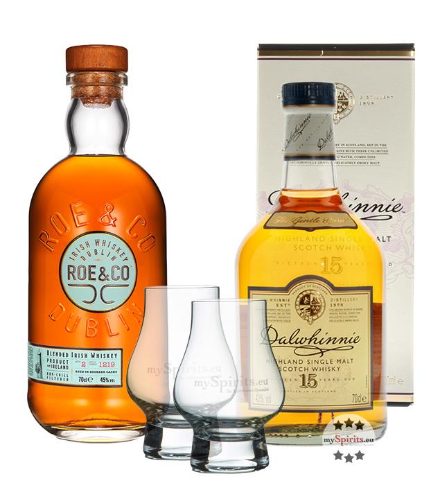 best whisky set dalwhinnie 15 roe co whiskey mit 2 nosing gl sern 43 ebay. Black Bedroom Furniture Sets. Home Design Ideas