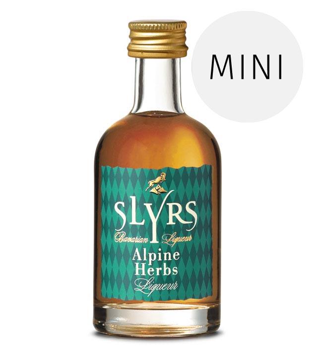 Slyrs Whisky Liqueur Alpine Herbs / 30% Vol. / 0,05-Liter-Flasche
