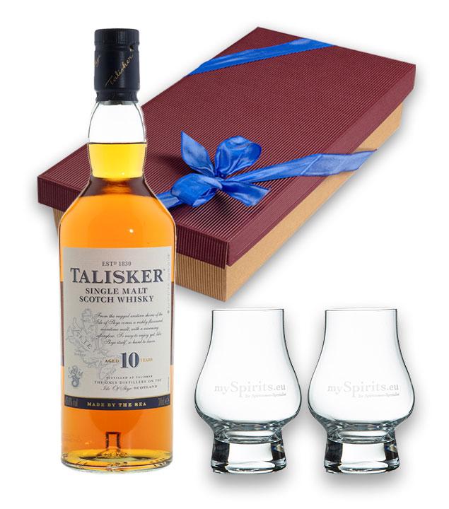 Geschenkset Talisker 10 Jahre Whisky 45,8 % vol...