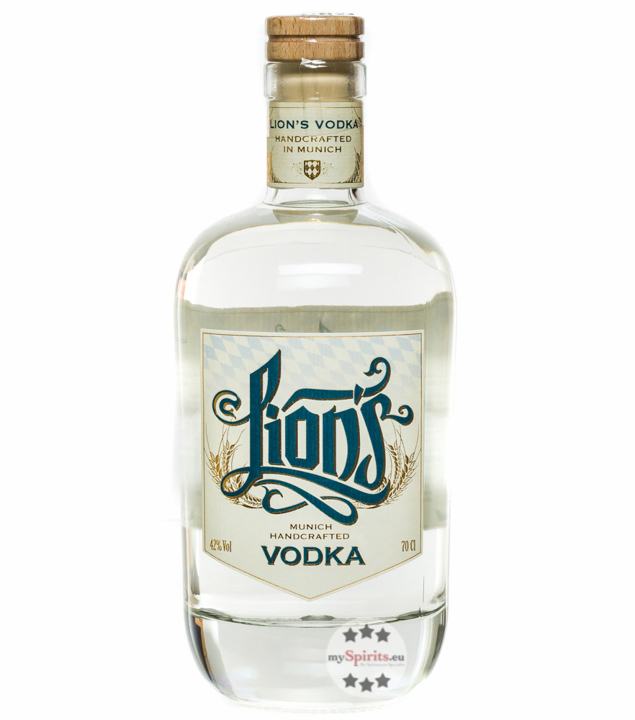 Lion's Munich Handcrafted Vodka / 42 % vol. / 0,7 Liter-Flasche