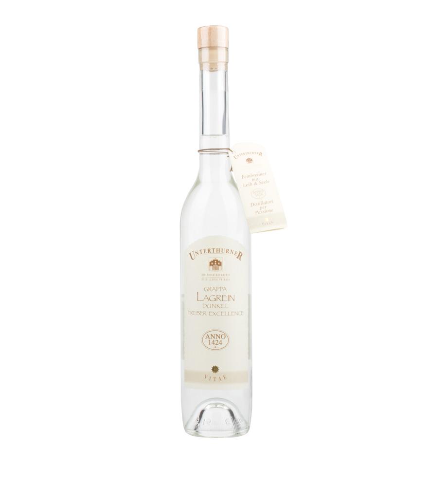 Unterthurner Grappa Lagrein Dunkel Vitae / 49 % vol. / 0,5 Liter-Flasche