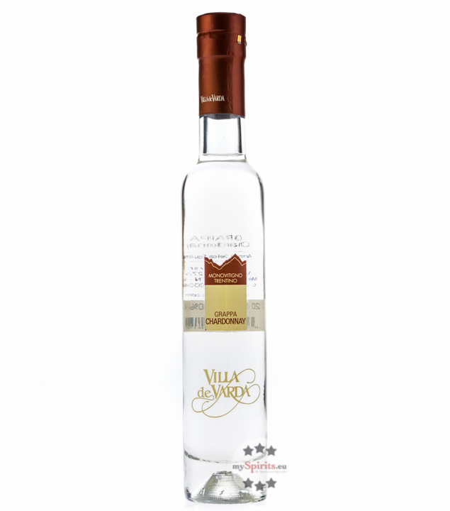 Villa de Varda Grappa Chardonnay Pensiero Trentino - Chardonnay-Grappa / 40 % / 0,2 Liter-Flasche