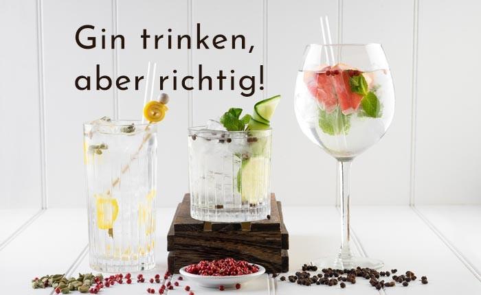 Wie trinkt man Gin?