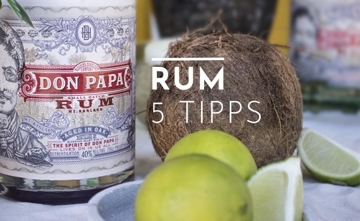 Rum kennenlernen Spirit Tasting