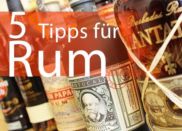 Praxistipps für dunklen Rum