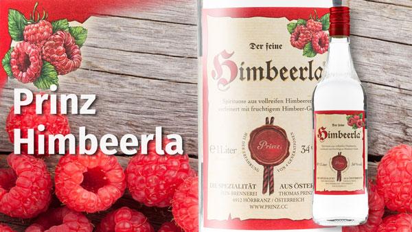 Prinz Himbeerla, 34 % Vol., milder Genuss-Schnaps