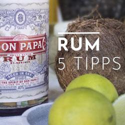 Wie trinkt man guten Rum richtig?