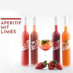 Aperitif mit Limes - das Getränk eignet sich super zum Mixen
