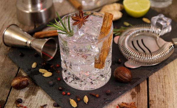 Gin Tonic mit Orangen, Zimt & Sternanis