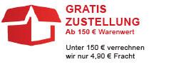 Gratis Zustellung bei Warenwert ab 150 Euro