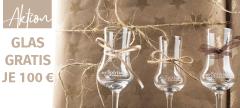 Weihnachtsaktion 2017: Pro 100 € Bestellwert je ein GRATIS Glas für Sie