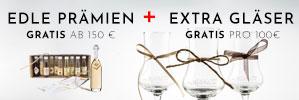 Profitieren Sie jetzt doppelt bei der Weihnachtsaktion 2019: edle Prämien + extra Gläser für Sie - gilt nur noch bis Weihnachten, kaufen Sie jetzt ein!