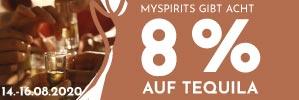 Nur dieses Wochenende: 8 % Rabatt auf alle Artikel aus der  Kategorie Tequila - greifen Sie jetzt zu und sparen Sie!