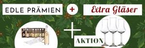 Profitieren Sie jetzt doppelt bei der Weihnachtsaktion 2020: edle Prämien + extra Gläser für Sie - gilt nur noch bis Weihnachten, kaufen Sie jetzt ein!