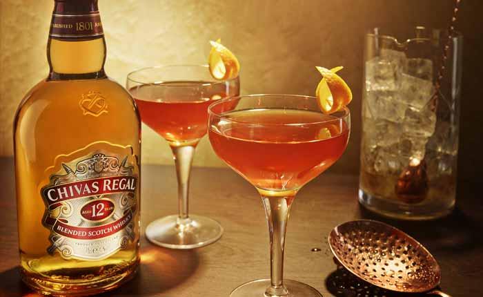 Auch mit Chivas Whisky können leckere Cocktails gemixt werden