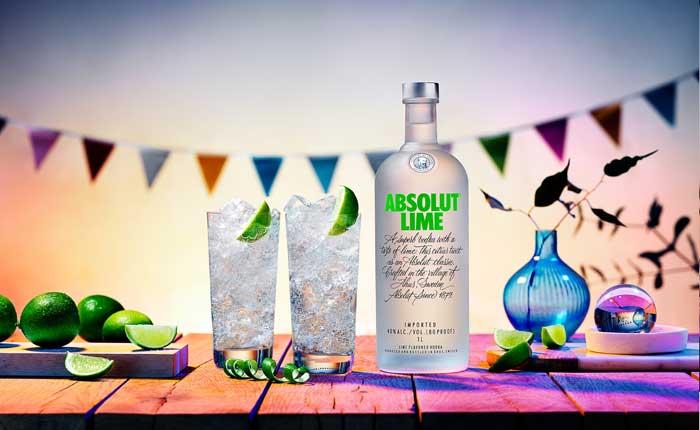 Absolut Lime, eine der tollen Absolut Vodka Sorten