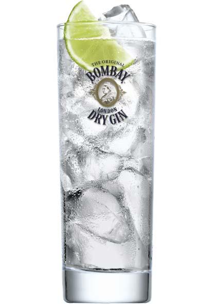 Auch ein klassischer Gin-Tonic schmeckt mit Bombay super!