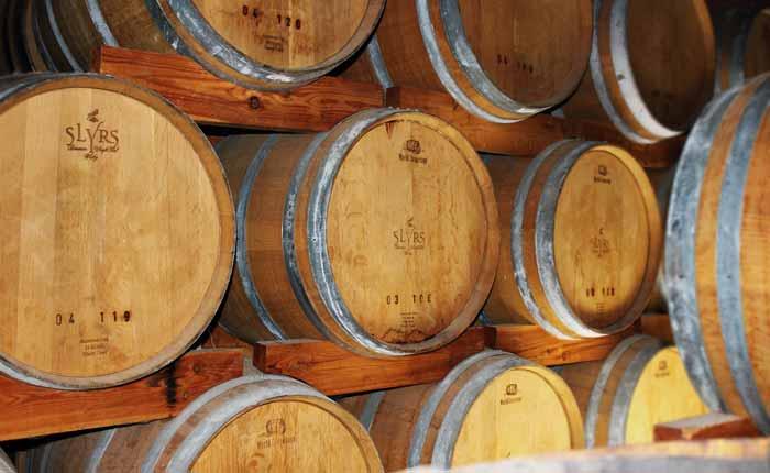 Hier lagert der Slyrs Whisky