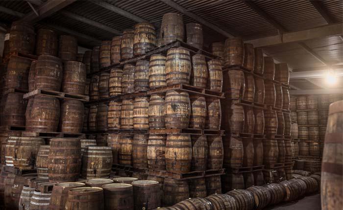 Lagerung von Rum