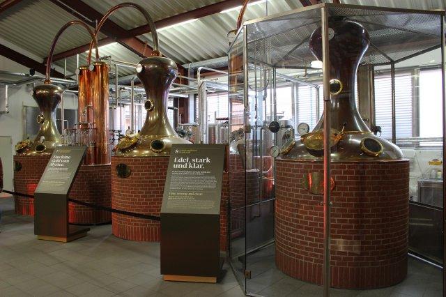 Kupferne Brennkessel für Whisky