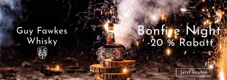 Bonfire Night Aktion 20 % auf Guy Fawkes - Jetzt zugreifen!