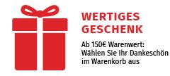 Jetzt extra profitieren: Ab 150 € gratis Versand + wertiges Geschenk aussuchen!