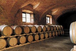 Das Fasslager der Distillerie Berta
