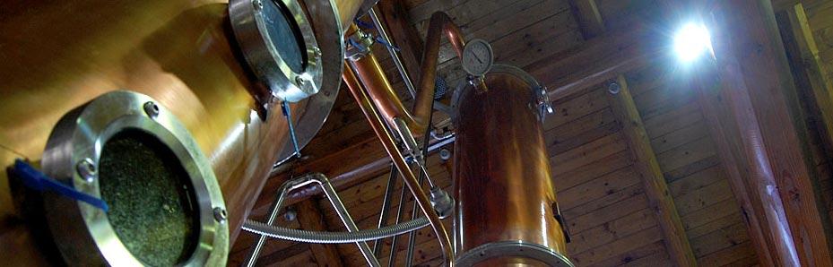Grappa Destillation bei Berta