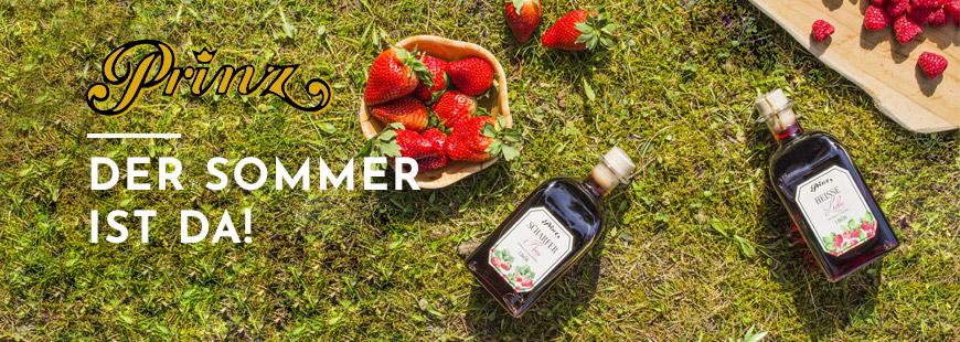 Jetzt entdecken und mitbestellen: die extra fruchtigen Sommerliköre - zum Mixen, über Eis oder pur Genießen!