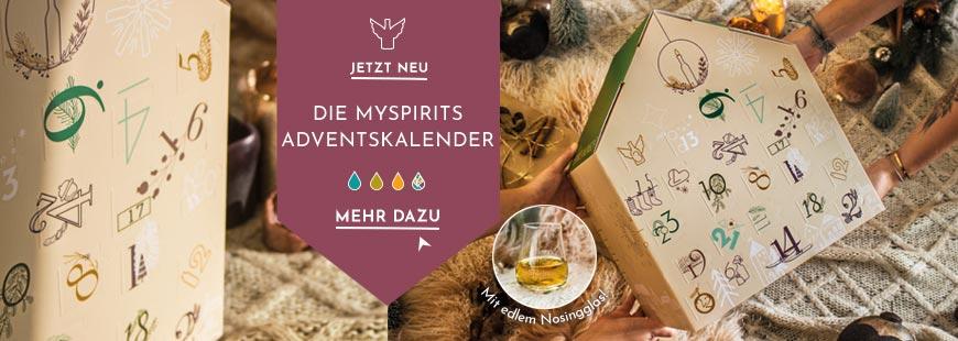 Neu: Premium Adventskalender von mySpirits - genießen Sie in vier Variationen: Gin, Rum, Whisky oder die ganze Vielfalt von Spirituosen aus 13 Ländern! Streng limitiert, greifen Sie schnell zu!
