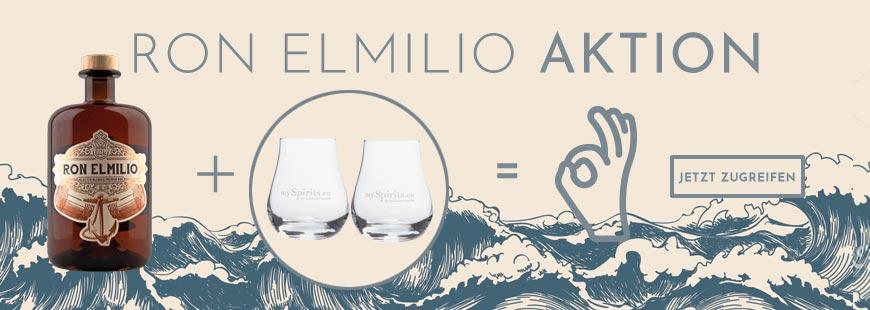 Aktion: 2 Gläser gratis zu jedem Ron Elmilio Premium Rum