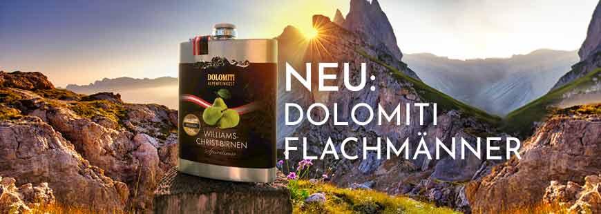 Neu: Dolomiti Flachmänner aus Edelstahl - das perfekte kleine Geschenk für Genießer!