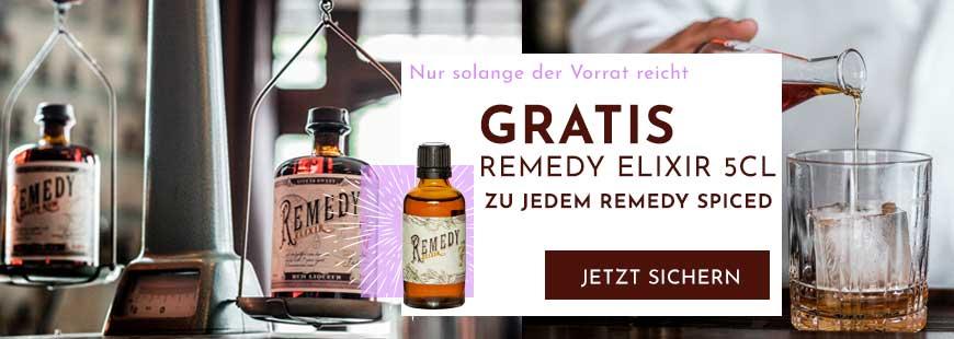Remedy Spiced kaufen & gratis Remedy Elixir 5 cl Probiergröße sichern!