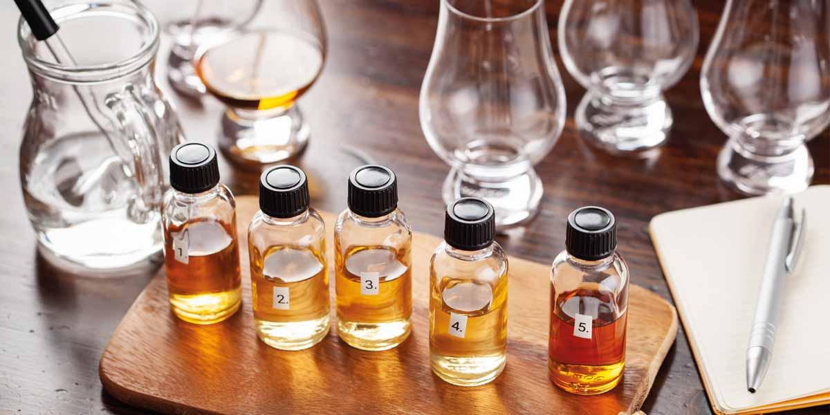 Probierpakete zum tasten von Whisky, Rum, Gin & Co.